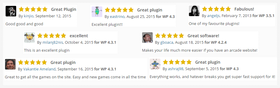 MyArcadePlugin Reviews
